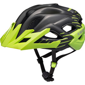 KED Status Jr. Helmet Kinder black green matt
